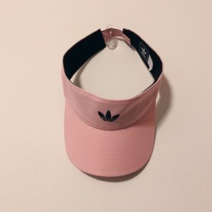 Adidas Light Pink Visor Hat with Velcro Strap